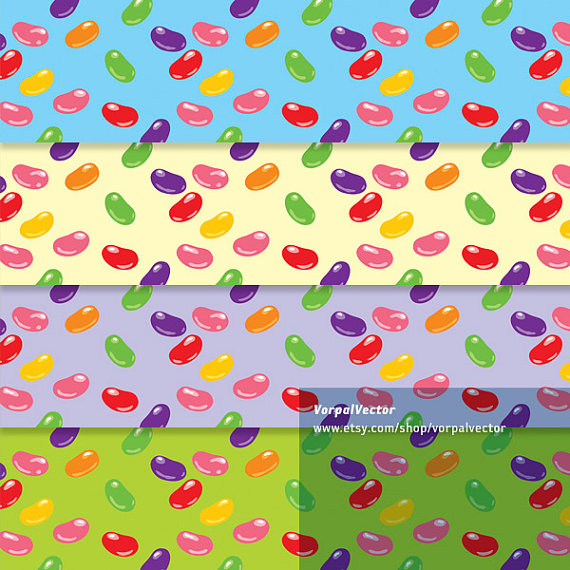 Jelly digital paper candy. Bean clipart easter