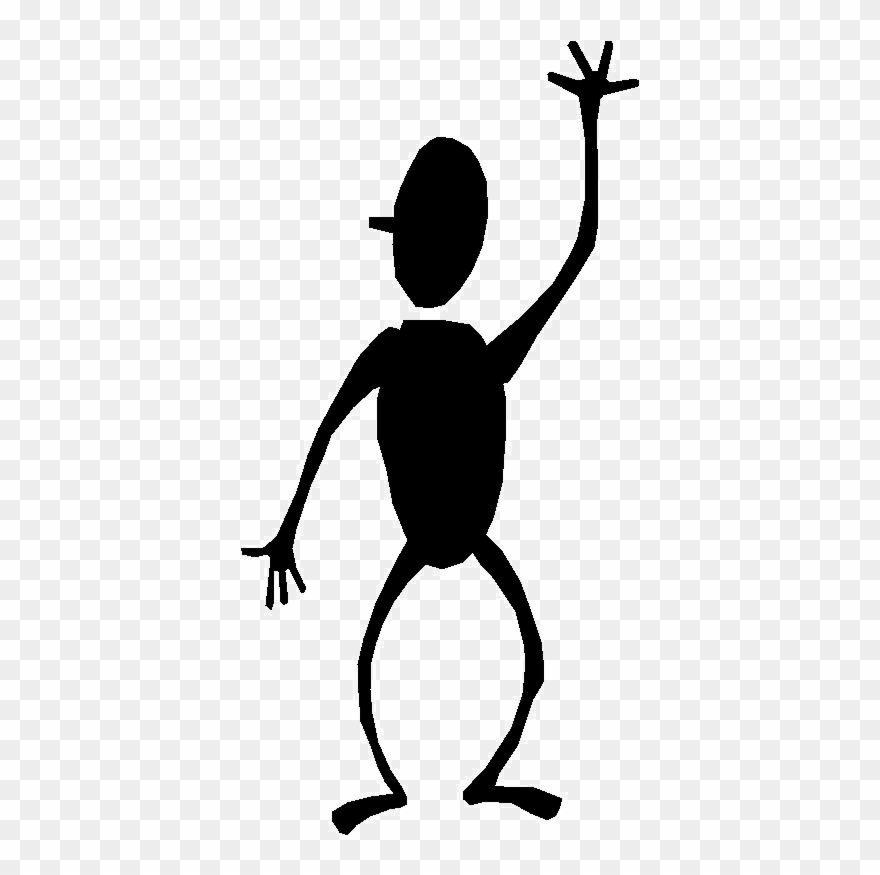 Office screen beans stick. Bean clipart figure