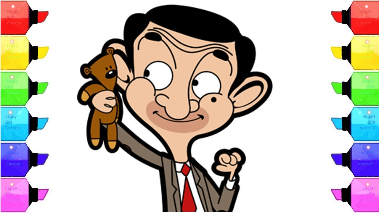 Bean clipart happy. Mr the animated series