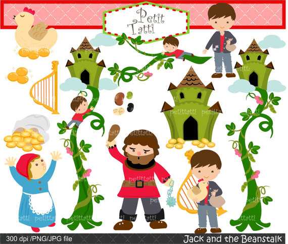 On sale digital children. Bean clipart jack and the beanstalk