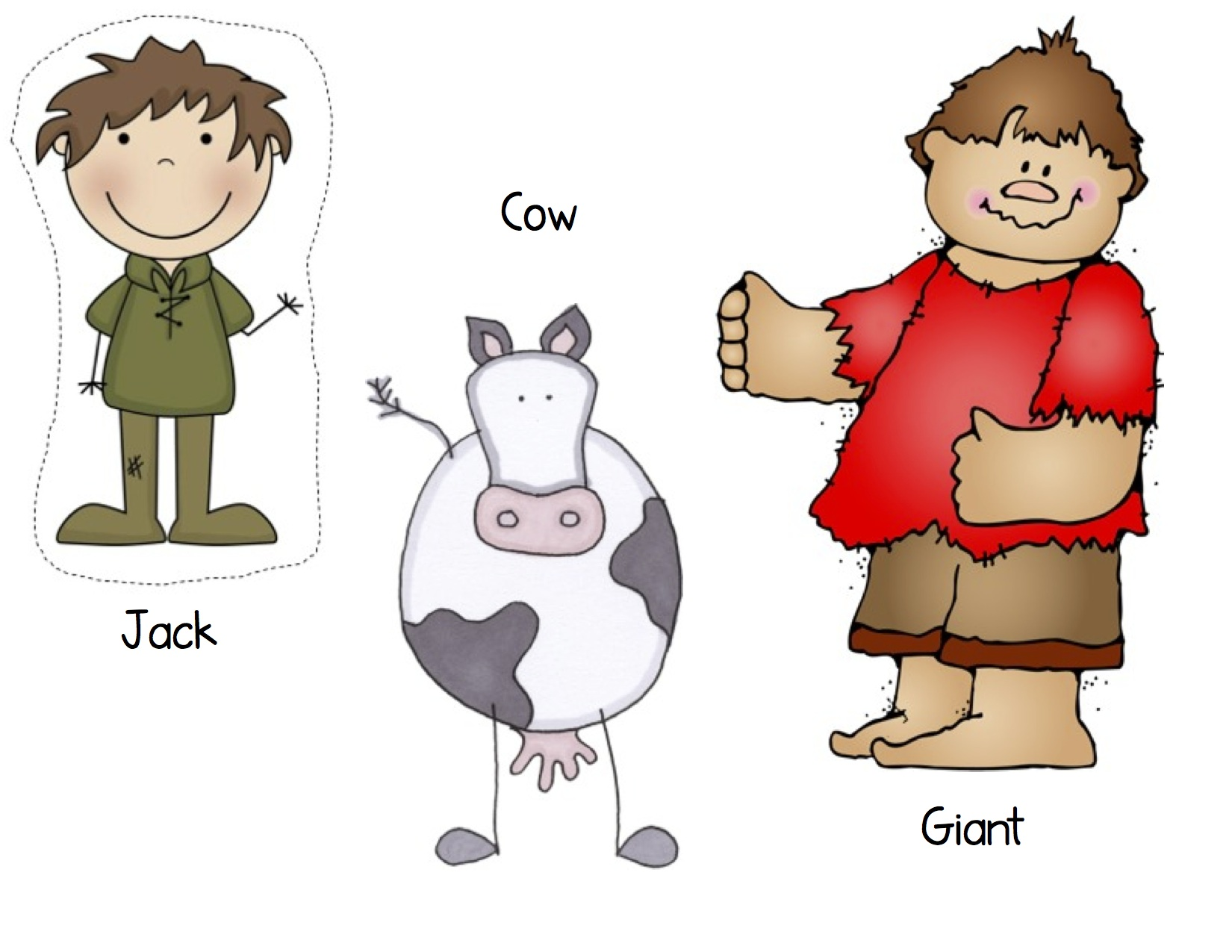 Kindergarten nana characters . Bean clipart jack and the beanstalk