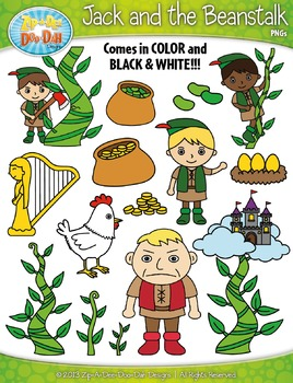 Bean clipart jack and the beanstalk. Fairy tale zip a