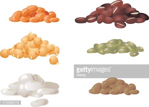 Bean clipart lentils. Beans and chickpeas premium