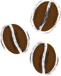 Free coffee beans image. Bean clipart outline