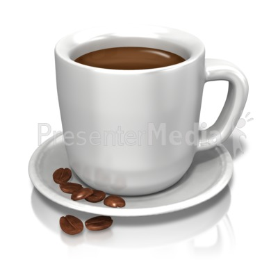 Bean clipart presentation. Coffee cup beans great