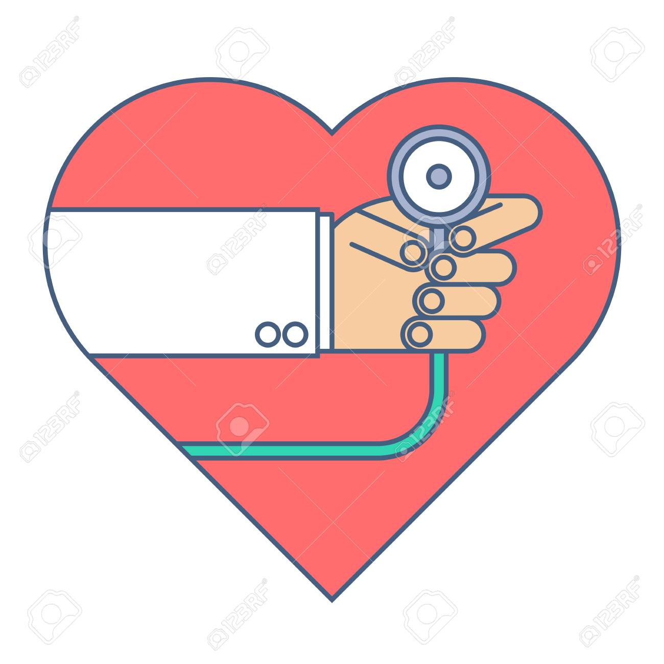 Stethoscope heartbeat free on. Bean clipart pulse