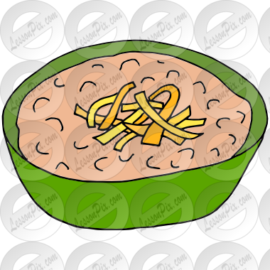 Picture for classroom therapy. Beans clipart refried bean