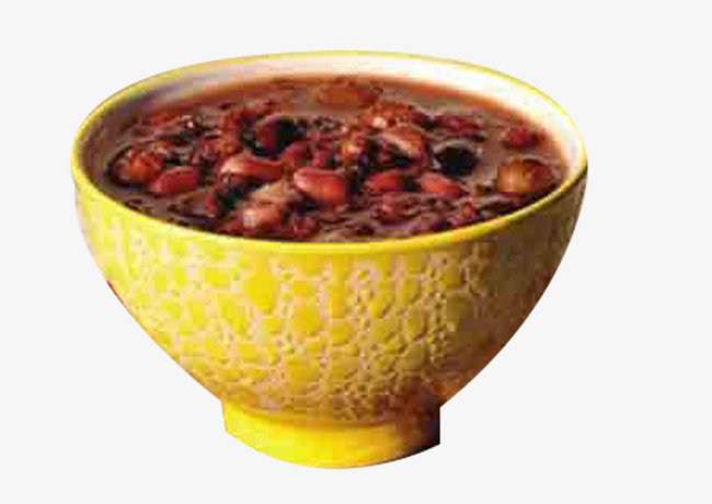Red beans peanut porridge. Bean clipart rice bean