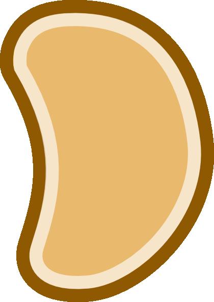 Bean clipart single. Brown clip art at