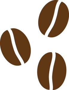 Coffee . Bean clipart single