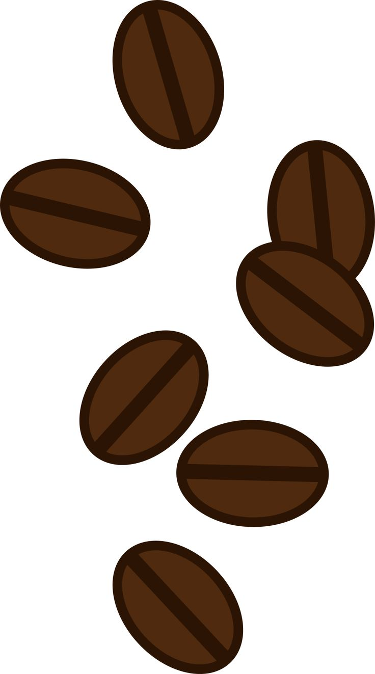 Stylist and luxury coffee. Beans clipart transparent