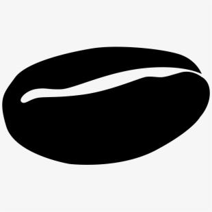 File coffee symbol black. Bean clipart vector