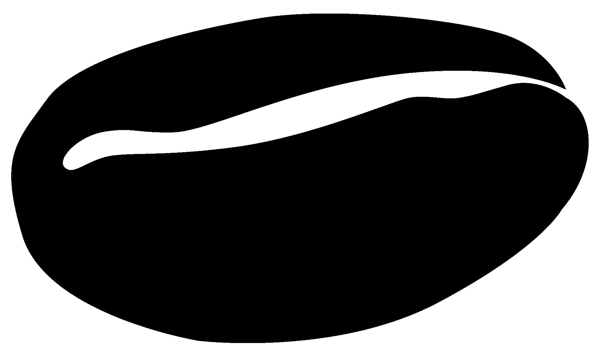 Bean clipart vector. Coffee beans on white