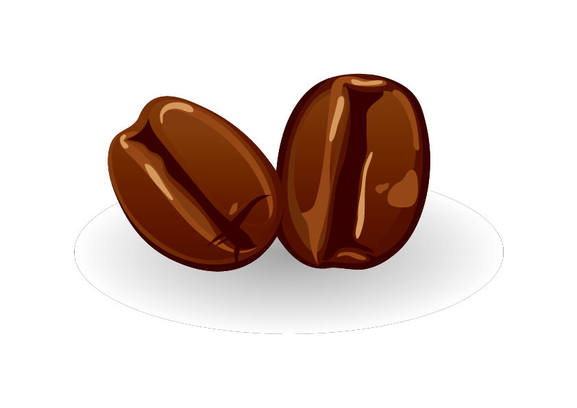 Bean clipart vector. Coffee cafe beans png