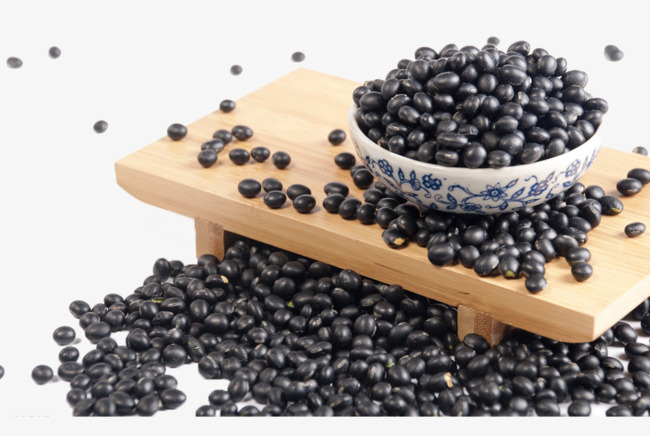 Beans clipart bowl bean. A of black grains