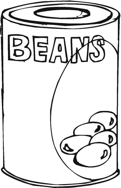 Beans clipart canned. Baked drawing at getdrawings