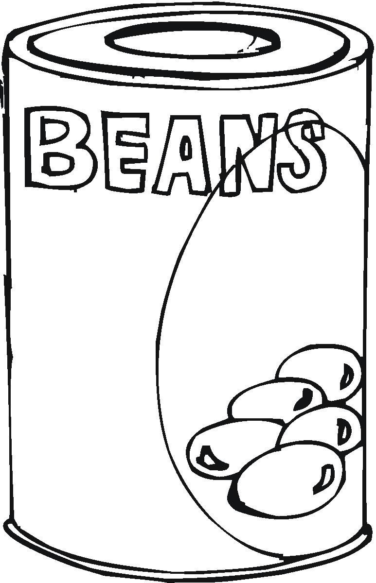 Can food clip art. Beans clipart drawing