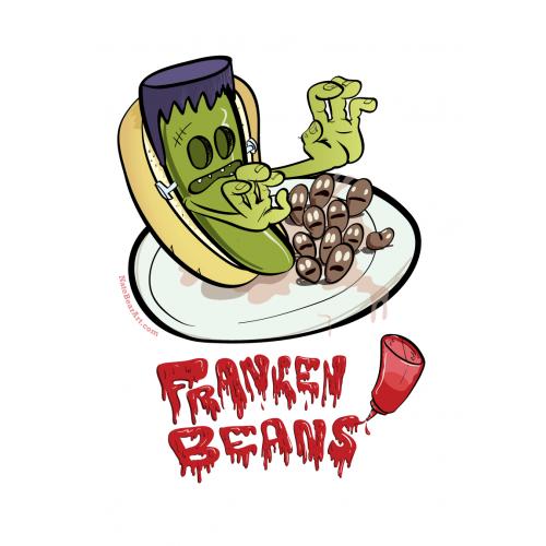 Franken print. Beans clipart franks