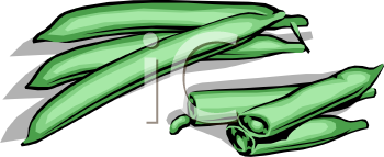 Green snapped in half. Beans clipart french bean