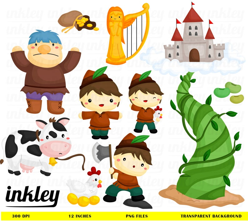 Clip art png story. Beans clipart jack and the beanstalk