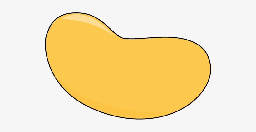 Jelly yellow . Beans clipart lima bean