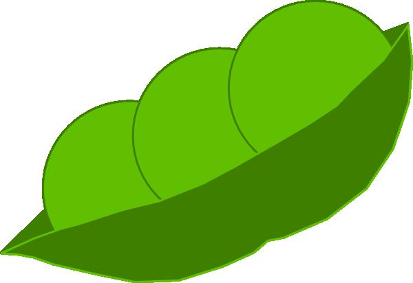 Peas in a pod. Beans clipart pea