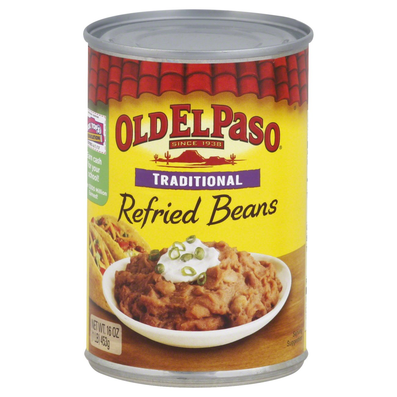 Old el paso traditional. Beans clipart refried bean