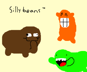 Beans clipart silly.