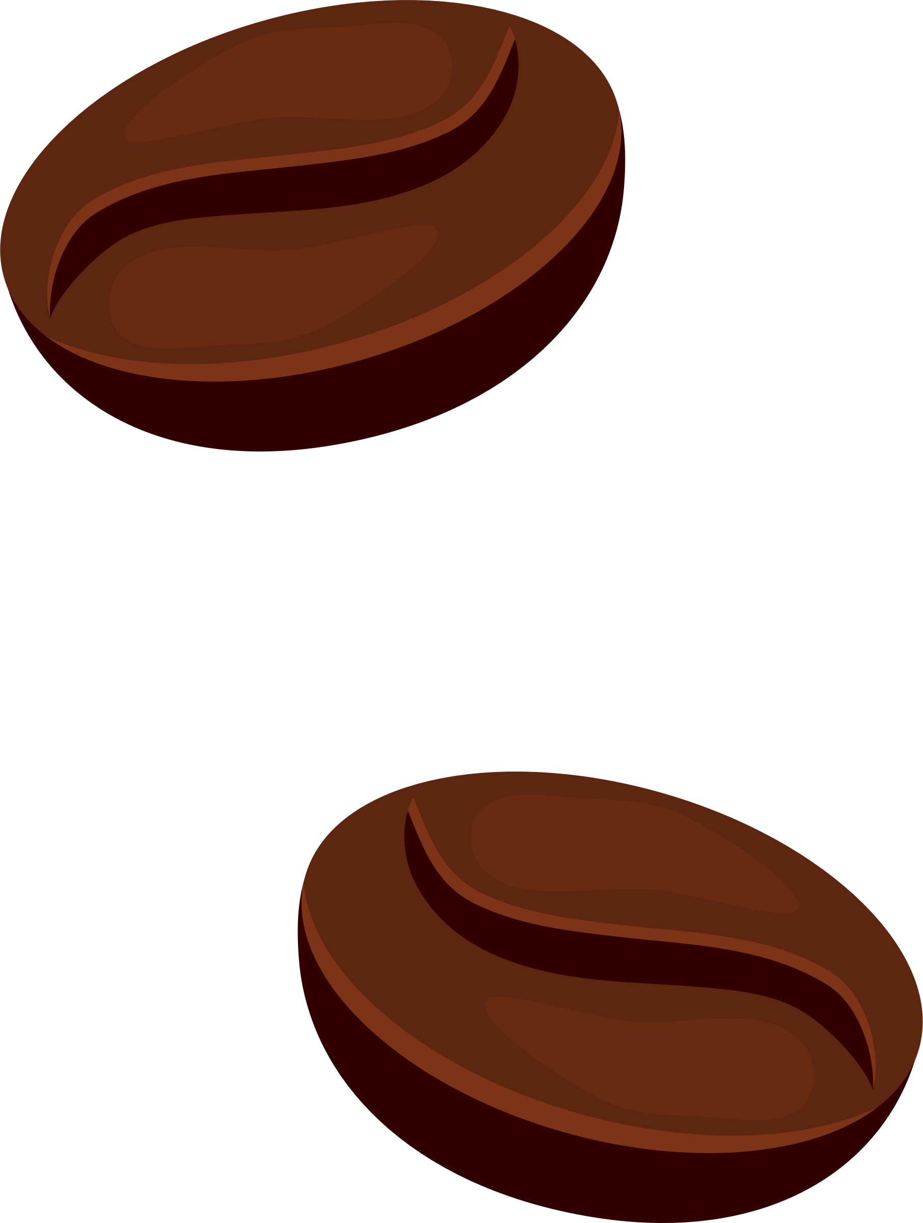 collection of coffee. Beans clipart transparent