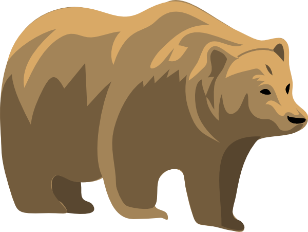 Brown clip art at. Bear clipart