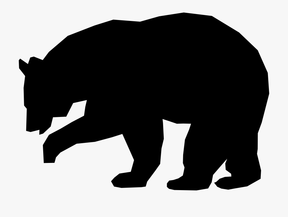 Clipart bear american black bear. Polar grizzly drawing