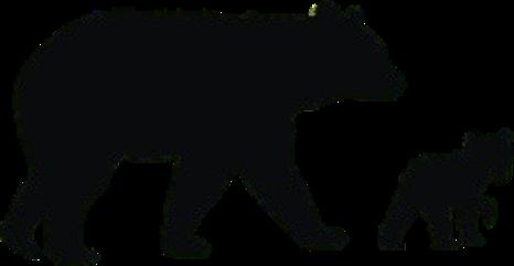 Bear clipart american black bear. Silhouette at getdrawings com