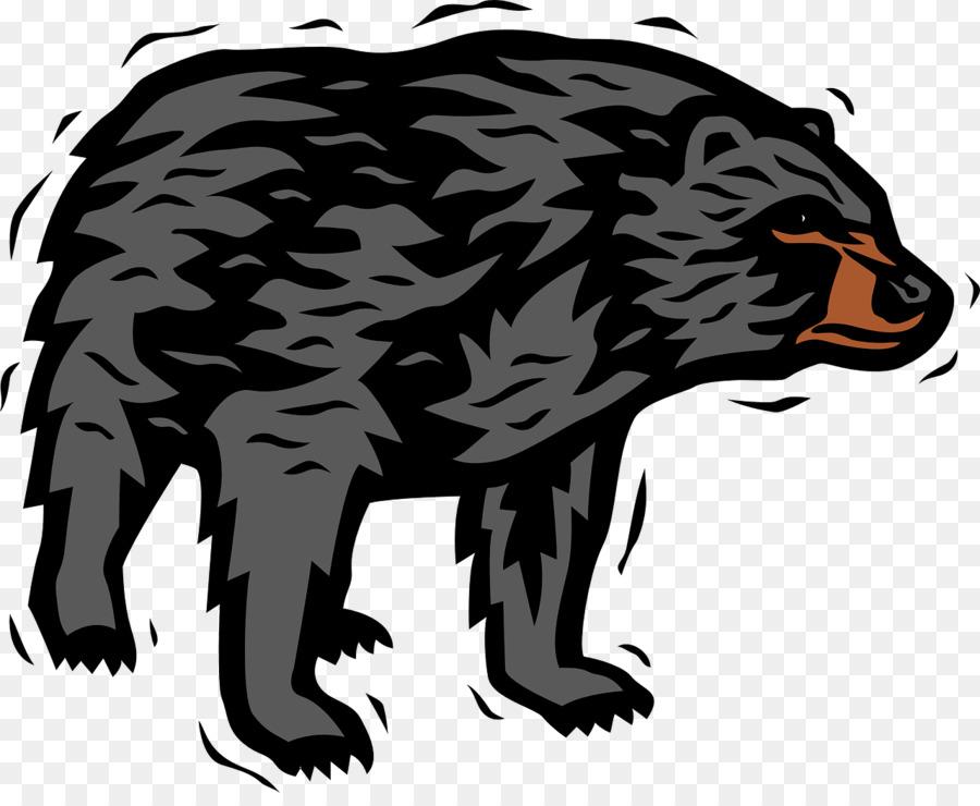 Bear clipart american black bear. Polar brown clip art