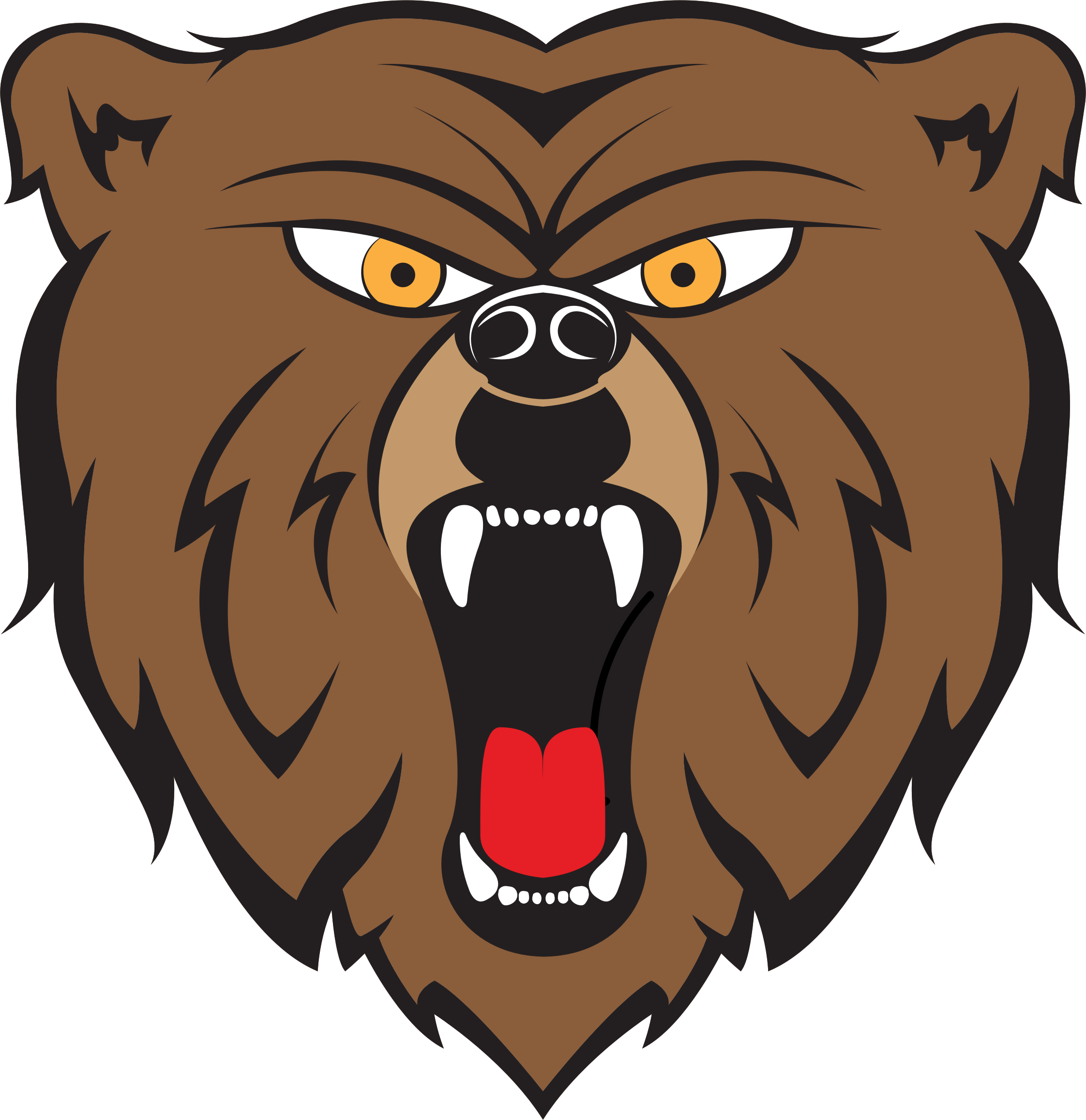 Bear by hulmdesign big. Picture clipart angry