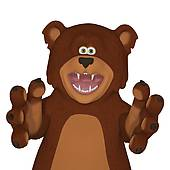 Stock illustrations royalty free. Bear clipart angry