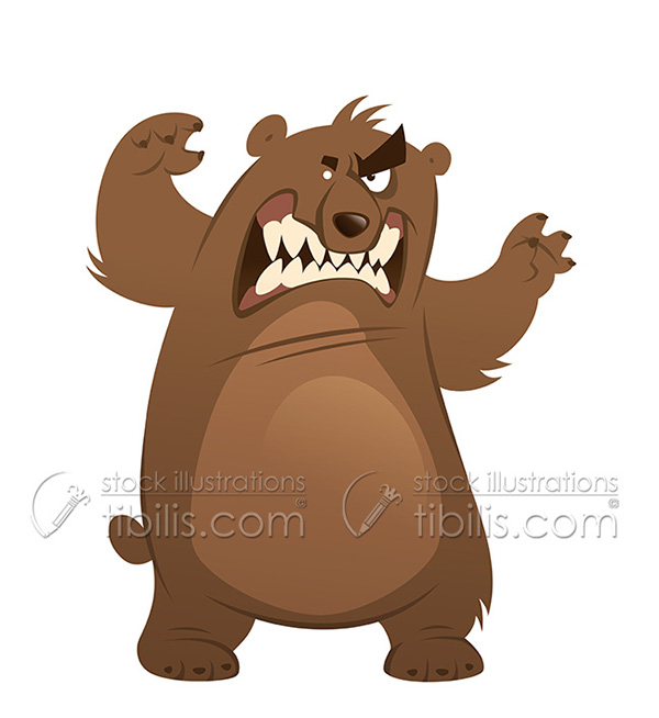Bear clipart angry. On behance stock illustration