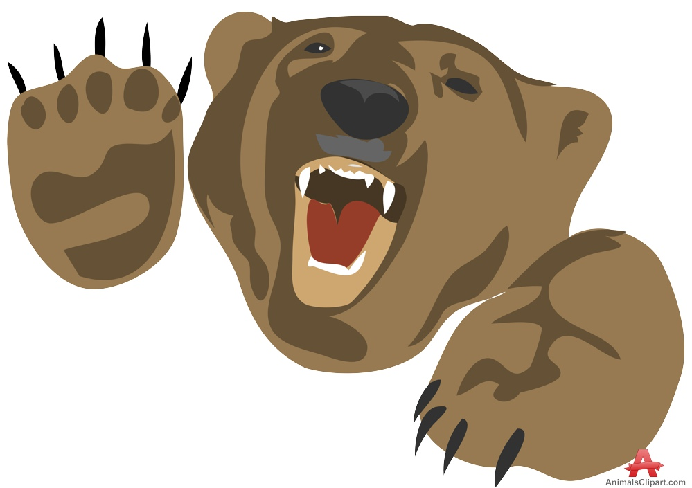 Attacking free design download. Bear clipart angry