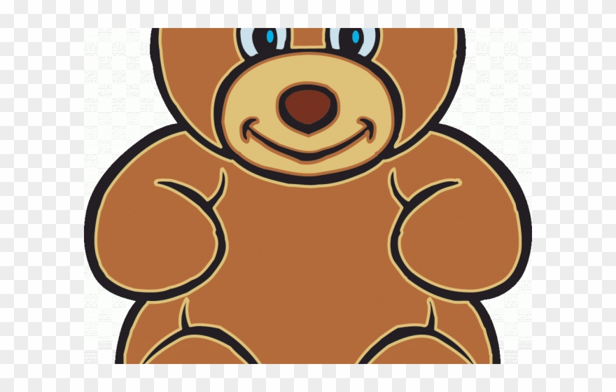 Gummy teddy cartoons png. Bear clipart animated