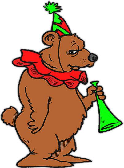 Bear clipart animated. Free gifs bears birthday