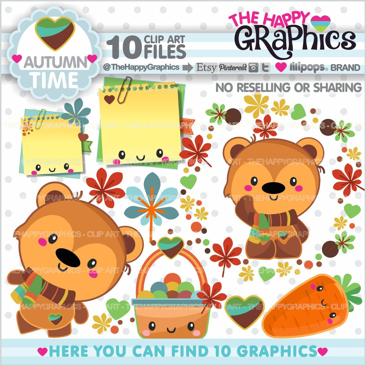 Bear clipart autumn. Off graphic commercial use