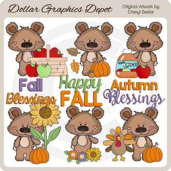 best dollar graphics. Bear clipart autumn