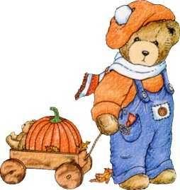 Pumpkin wagon okay so. Bear clipart autumn