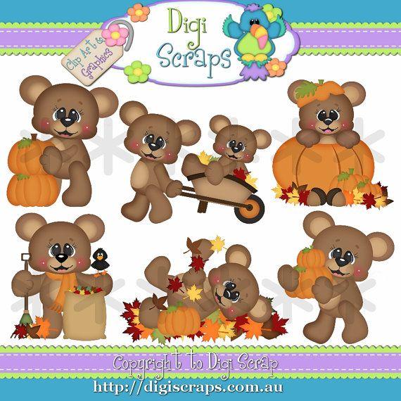 best fall images. Bear clipart autumn