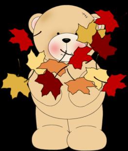 Bear clipart autumn. Bears