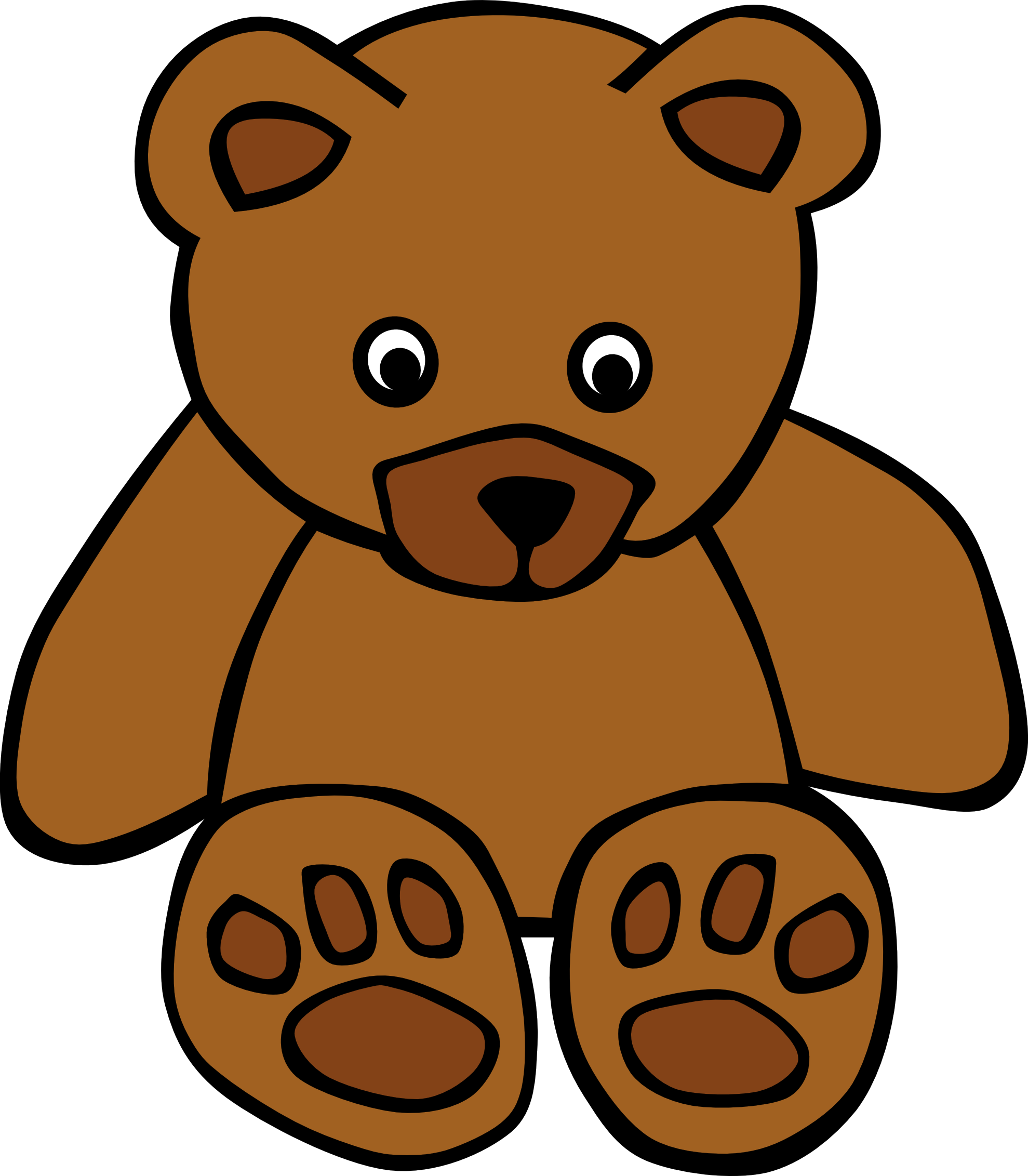 Teddy panda free images. Clipart beach bear