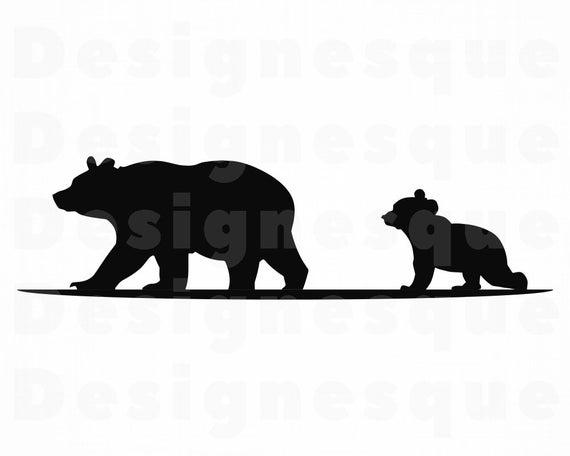 Clipart bear baby bear. Mama svg files for