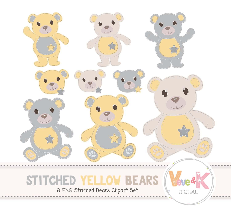 Teddy bear clip art. Bears clipart yellow