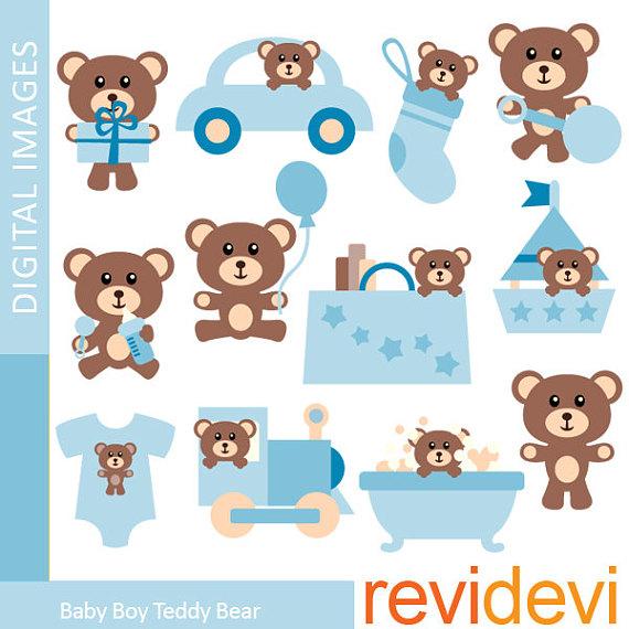 Boy teddy sale nursery. Bear clipart baby bear