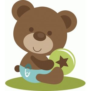 Bear clipart baby shower. Silhouette design store search