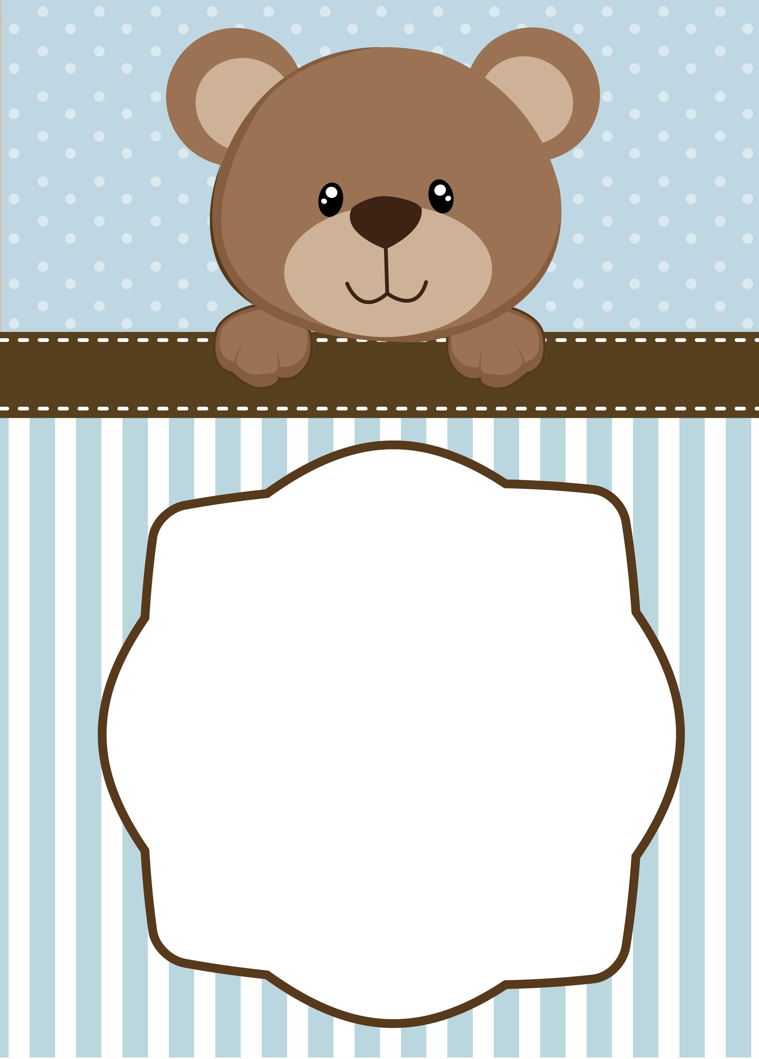 Bear clipart baby shower. Neutral teddy invitations tarjetas
